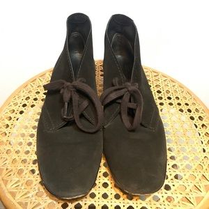 PEDRO GARCIA Brown Suede Lace Up Shoes Size 40